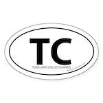 Turks & Calcos Islands bumper sticker -White Oval