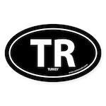 Turkey country bumper sticker -Black (Oval)