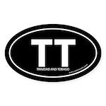 Trinidad & Tobago bumper sticker -Black (Oval)