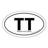 Trinidad &amp; Tobago bumper sticker -White (Oval)