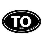Tonga country bumper sticker -Black (Oval)