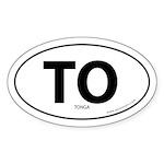 Tonga country bumper sticker -White (Oval)