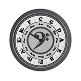 Bass Clef Circle of Fifths Wall Clock