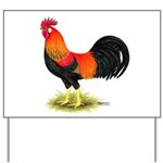 Brown Leghorn Rooster Yard Sign
