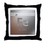 Iron (Fe) Throw Pillow