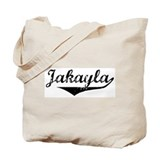 Jakayla Vintage (Black) Tote Bag