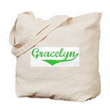 Gracelyn Vintage (Green) Tote Bag