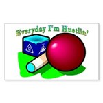 Hustle Everyday Rectangle Sticker