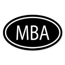 MBA Oval Decal
