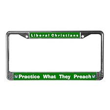 Liberal Christians #2 License Frame