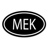 MEK Oval Decal