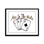 Ace Hole Framed Panel Print