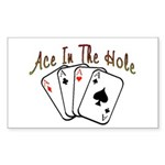 Ace Hole Rectangle Sticker