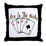 Ace Hole Throw Pillow
