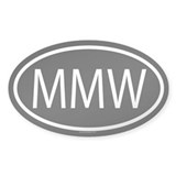 MMW Oval Decal