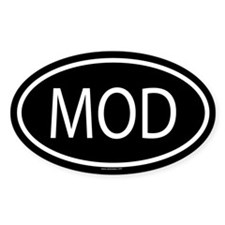 MOD Oval Decal