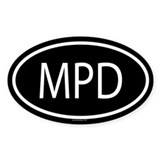 MPD Oval Decal