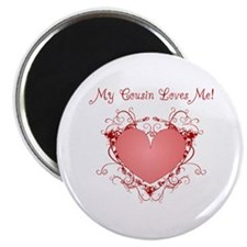 "My Cousin Loves Me Heart 2.25"" Magnet (10 pack)"