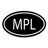 MPL Oval Decal