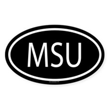 MSU Oval Bumper Stickers