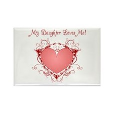 My Daughter Loves Me Heart Rectangle Magnet (10 pa
