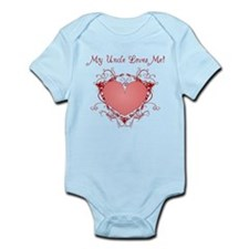 My Uncle Loves Me Heart Infant Bodysuit