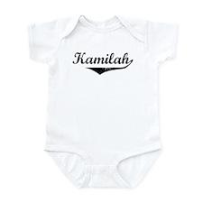 Kamilah Vintage (Black) Infant Bodysuit