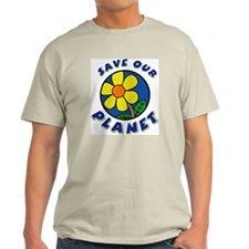 Save Our Planet Ash Grey T-Shirt