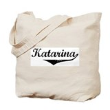 Katarina Vintage (Black) Tote Bag