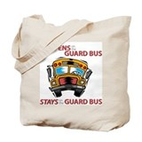 What Happens on the Guard Bus Tote Bag