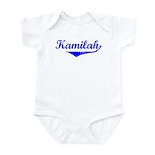 Kamilah Vintage (Blue) Infant Bodysuit