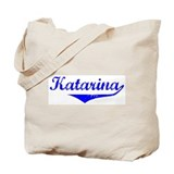 Katarina Vintage (Blue) Tote Bag