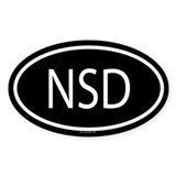 NSD Oval Decal