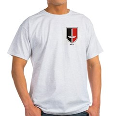 Luftwaffe JG52 logo on Ash Grey T-Shirt