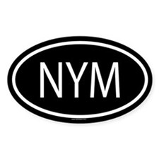 NYM Oval Decal