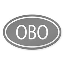 OBO Oval Decal