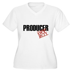Off Duty Producer Women's Plus Size V-Neck T-Shirt
