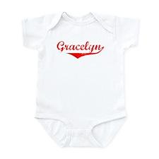 Gracelyn Vintage (Red) Infant Bodysuit