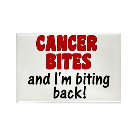 Cancer Bites Rectangle Magnet (10 pack)