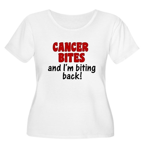 Cancer Bites Women's Plus Size Scoop Neck T-Shirt