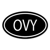 OVY Oval Decal
