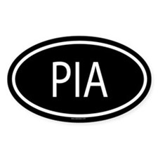 PIA Oval Decal