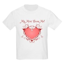 My Mimi Loves Me Heart T-Shirt