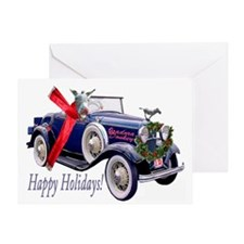 ISADORA DONKEY HAPPY HOLIDAYS Greeting Card