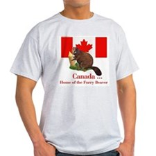 Canada - Beaver Home Ash Grey T-Shirt