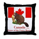 Canada - Beaver Home Throw Pillow