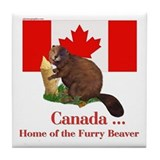 Canada - Beaver Home Tile Coaster
