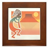 Kokopelli 7 Framed Tile