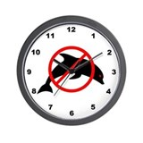 Anti-Dolphin  Wall Clock