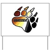 BEAR PRIDE PAW/GRIZZLY Yard Sign